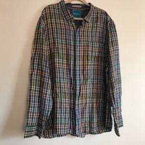 Tommy Bahama Pastel 100% Linen Button Up Shirt 3XL